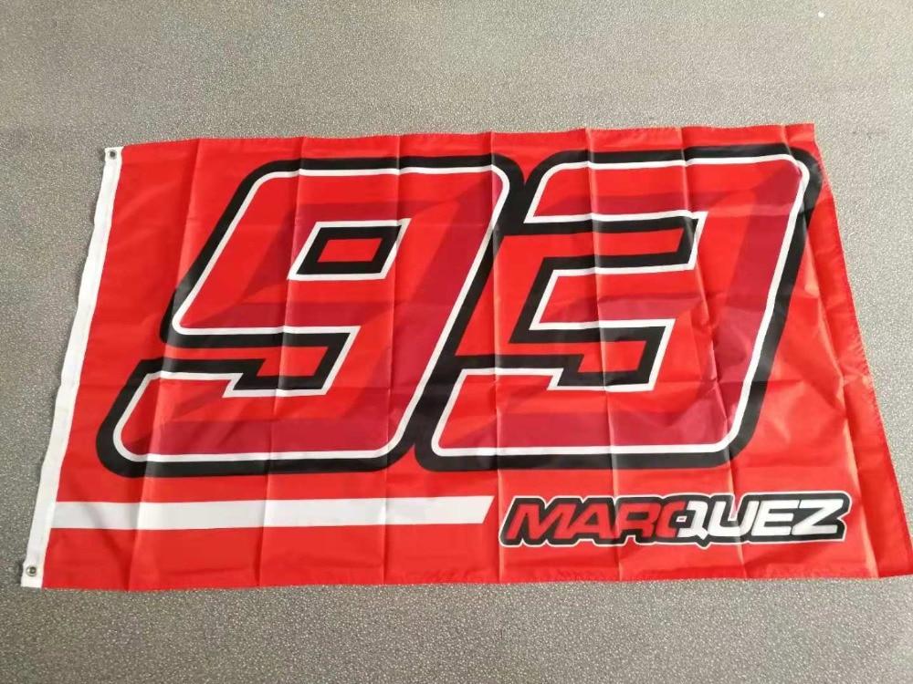 90*150cm  Moto Gp 93 Marquez Flag