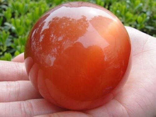 Natural quartz crystal orange cat eye ball reiki furnishing accessories for home decoration