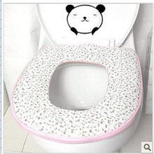 1Pcs Random Color Zipper Thicken Mat Toilet Seat Cover Multi Color Padded Toilet Seat Warm And Soft(China)
