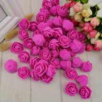 100 sztuk pianka pe sztuczny kwiat róże głowy sztuczne kwiaty tanie dekoracje ślubne dla scrapbooking pudełko diy wieniec wielofunkcyjny