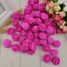 100pcs PE Foam fake flower roses head artificial flowers cheap wedding decoration gift box scrapbooking diy needlework Multi-use