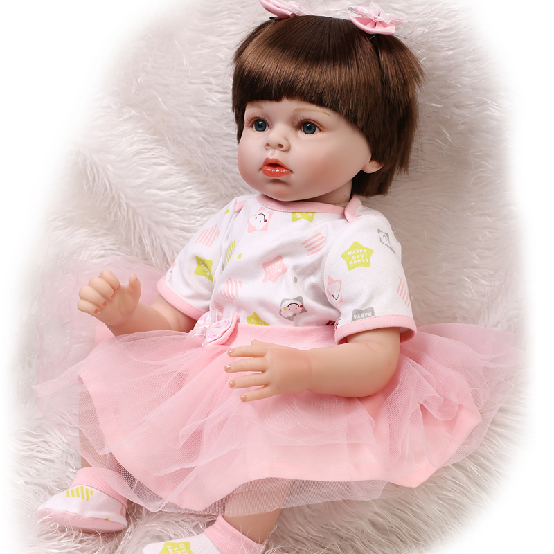 22 pollice 55 CM carino baby doll reborn realistica della ragazza della principessa bambole giocattoli per bambini regalo di compleanno brinquedo bonecas menina22 pollice 55 CM carino baby doll reborn realistica della ragazza della principessa bambole giocattoli per bambini regalo di compleanno brinquedo bonecas menina