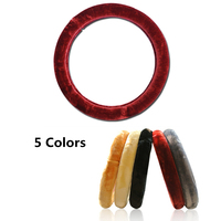 38cm Winter Plush Car Steering Wheel Cover Super Soft High Quality Rubber Car Styling 14 9in