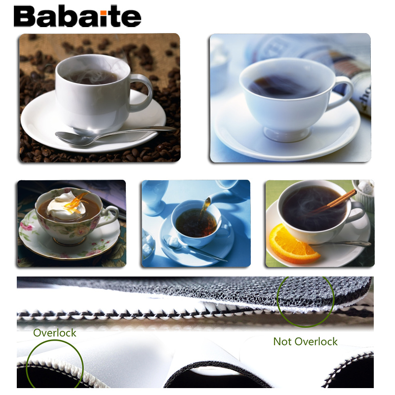 Babaite Vintage Cool Coffee Office Mice Gamer Soft Mouse Pad Size for 18x22cm 25x29cm Rubber Mousemats