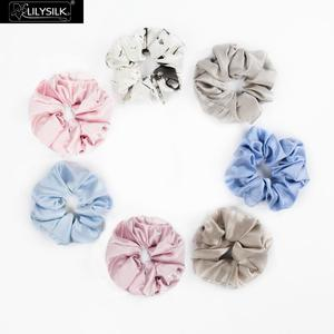 Image 2 - LilySilk 7 Pack Silk Scrunchies Charmeuse Hair Head Rope Rubber Band Accessories Soft Care Luxurious Color Random Free Shipping