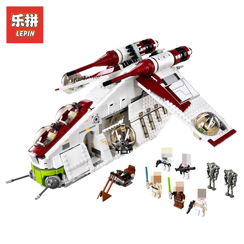 NEW LEPIN 05041 1175pcs STAR WARS Coruscant Police Gunship LegoINGlys 75021 model Building Blocks Bricks toy Model to Boys Gift new bela 10377 star wars wookiee gunship model building blocks sets wullffwarro kanan bricks