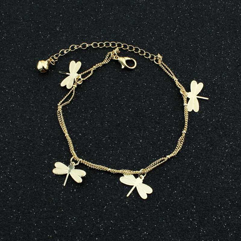 Female Butterfly Anklets  Barefoot Crochet Sandals leg bracelet Foot Anklet Bracelets For Women Chain