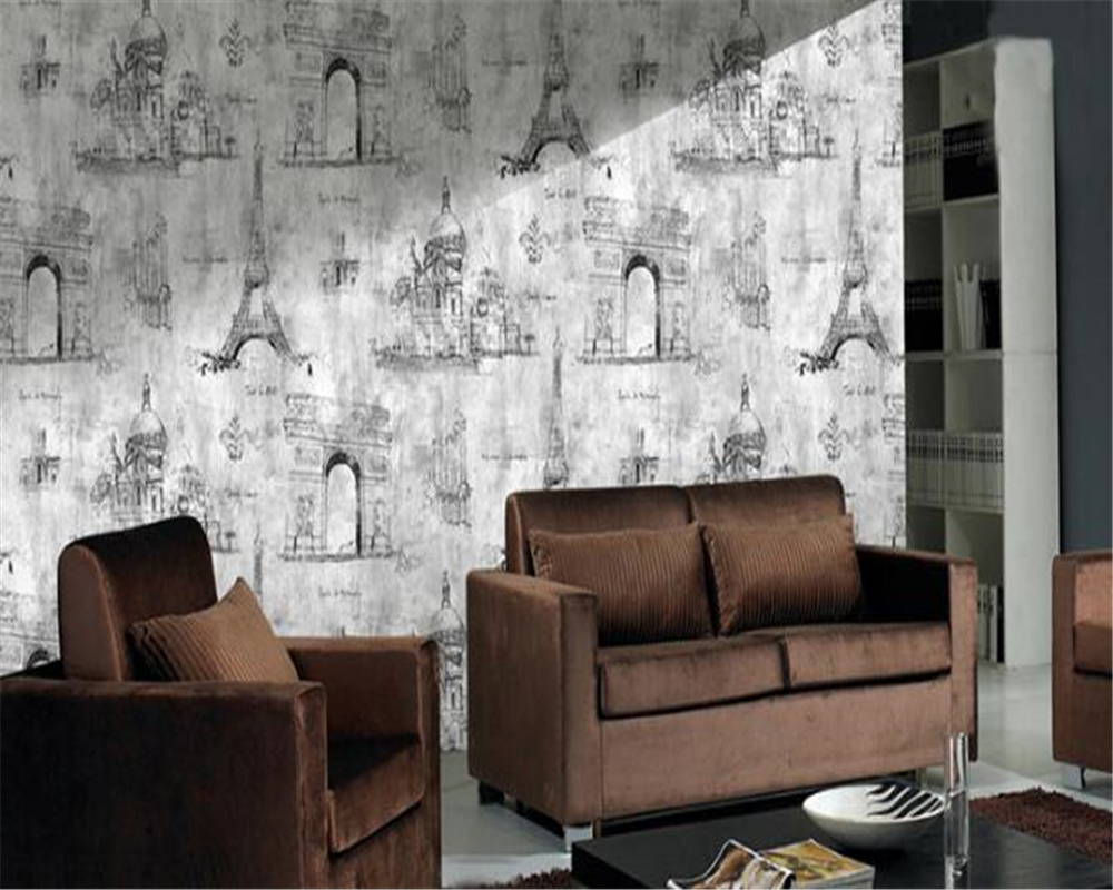 beibehang papel de parede English style wallpaper vintage KTV background wall cafe living room PVC wallpaper for walls 3 dbeibehang papel de parede English style wallpaper vintage KTV background wall cafe living room PVC wallpaper for walls 3 d