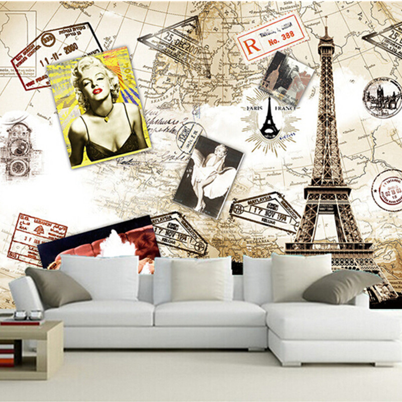 The custom <font><b>3D</b></font> murals,retro European style <font><b>sexy</b></font> Monroe goddess papel de parede ,living room sofa TV <font><b>wall</b></font> bedroom <font><b>wall</b></font> <font><b>paper</b></font> image