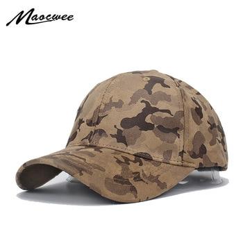 Hombres y Mujeres Suede gorra béisbol camuflaje sombrero Gorras Militares Hombre ajustable Snapbacks papá Gorras 2018 no te defraudará