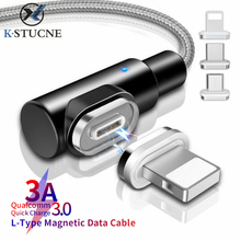 Get more info on the 3A Magnetic Cable 90 Degree Micro USB Cable Fast Charging Type-C Magnet Charger USB C Data Cable for iPhone X Android Phone Line