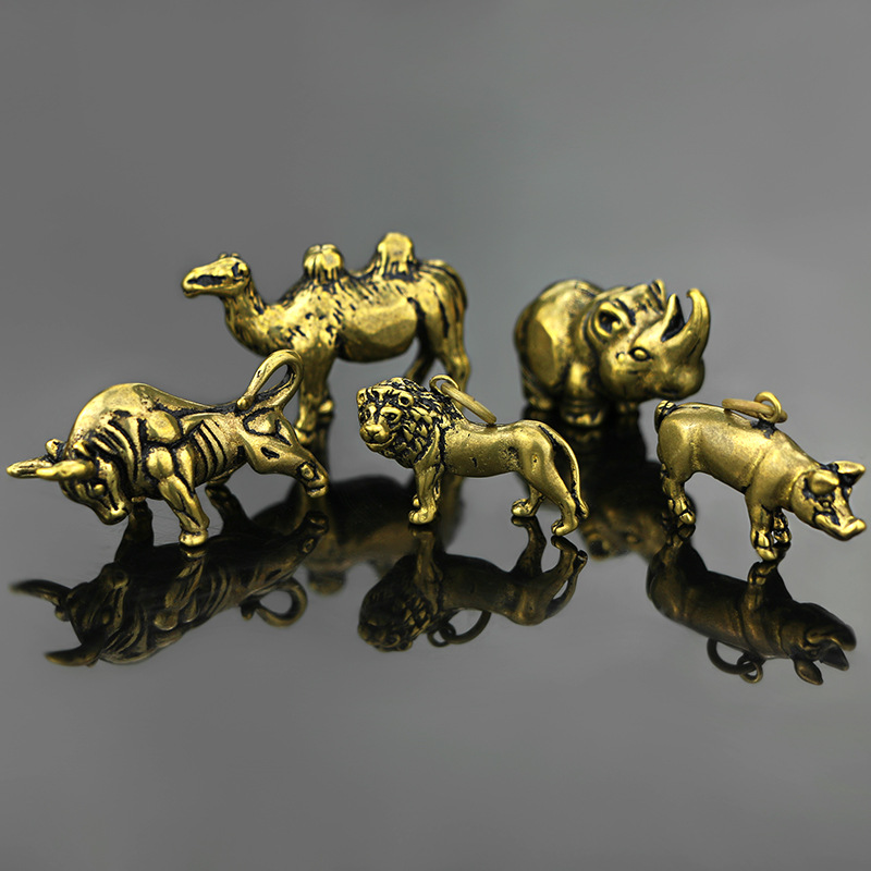 NEW Mini Retro Brass Animal Camel Statue Desk Decoration Ornament Home Office Desk Decorative Sculpture Pocket Hand Toy Gift