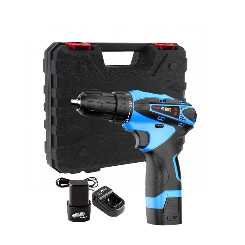 16 8V two speed Lithium Battery 2 hand Cordless Electric Drill driver wood Electric Screwdriver Power
