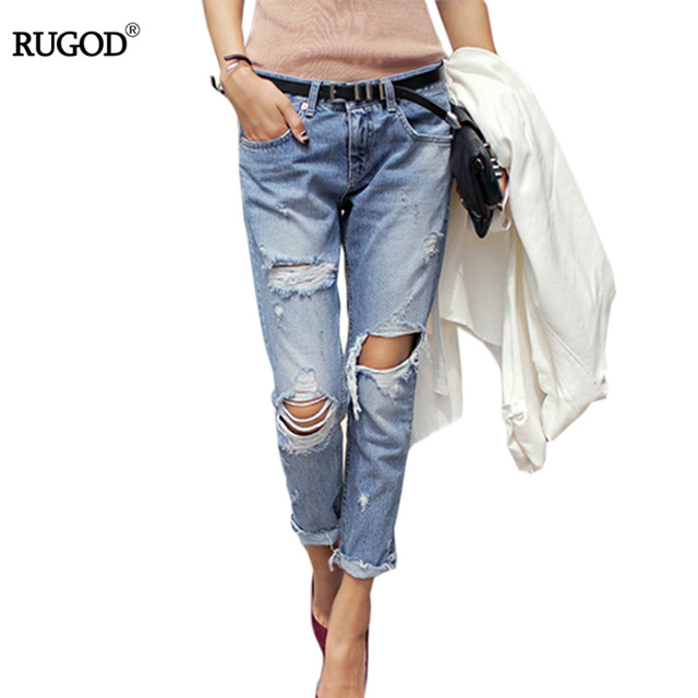 Aliexpress.com : Buy 2017 Spring New Boyfriend Hole Ripped Jeans ...