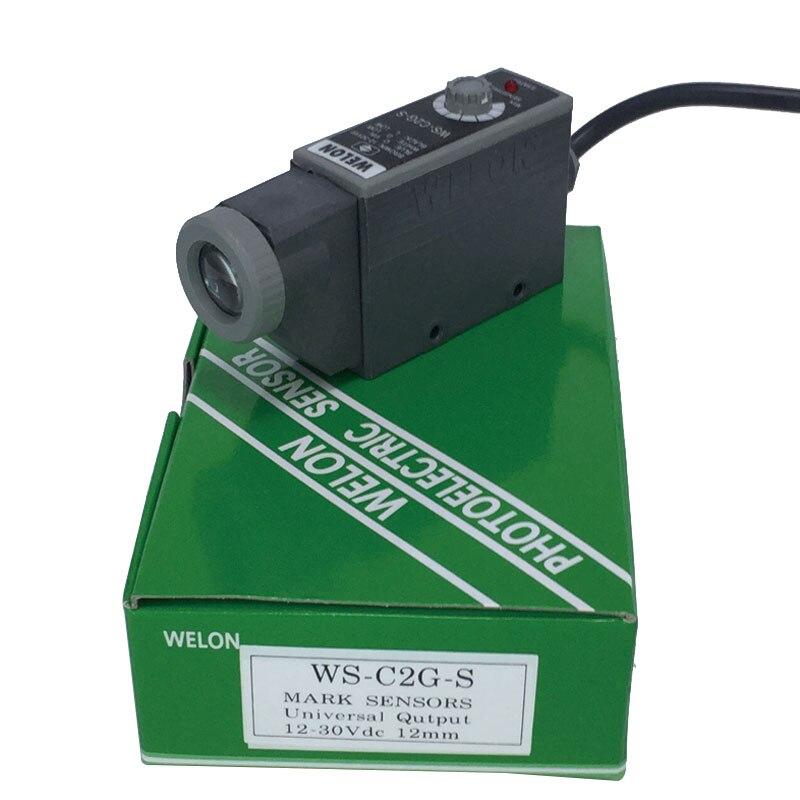 WELON WS C2G S Photoelectric Mark Sensor 12 30V DC Color Code Sensor For Bag making Machine