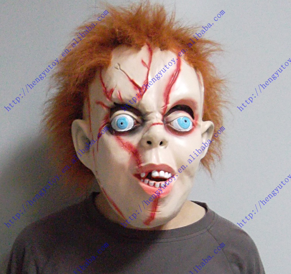 Aliexpress.com : Buy Scary Chucky Mask with hair from Reliable ...