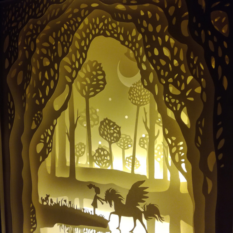 de papel da sombra encontram a luz