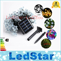 Holiday Lighting Solar Powered 5M 20 / 7M 50 Leds Outdoor Cherry Blossoms Christams String Lights Garden Solar Light