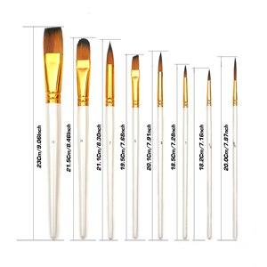 Image 3 - Pintura conjunto de arte 15 pçs escova de pintura de cabelo de náilon & transportando preto caso paleta faca e esponja para desenho a óleo acrílico aquarelas