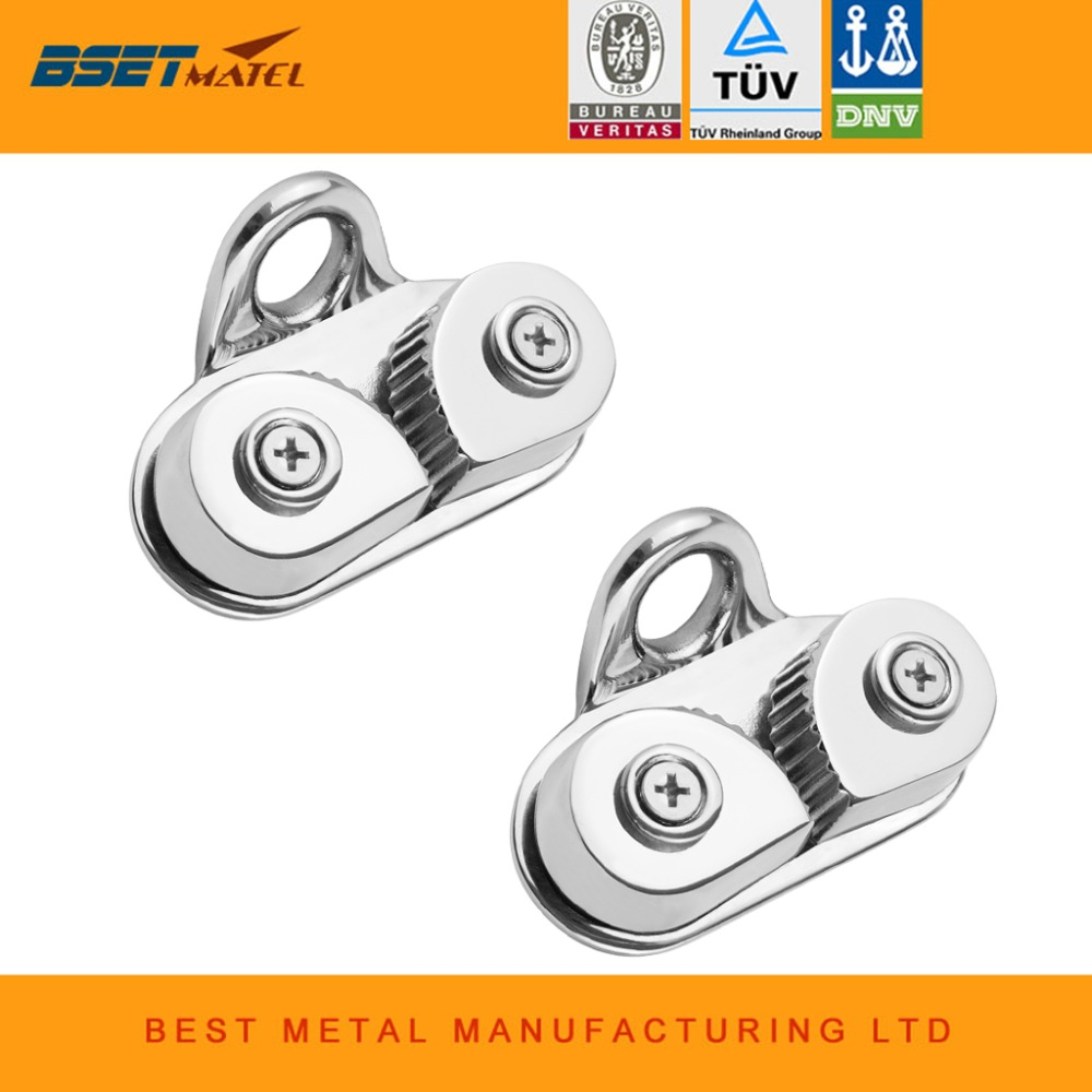 2PCS Marine Grade 316 Cam Cleat with Leading Ring Boat Cam Cleats Matic Fairlead Marine Sailing Sailboat Kayak Canoe Dinghy 2PCS Marine Grade 316 Cam Cleat with Leading Ring Boat Cam Cleats Matic Fairlead Marine Sailing Sailboat Kayak Canoe Dinghy