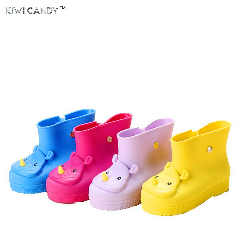 cream smell Baby Kids Rain Boots Rhinoceros shoes Girls Children Rain Shoes Waterproof C ...