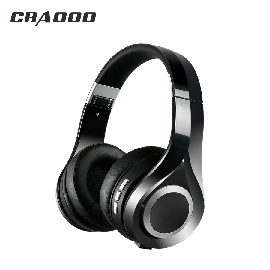 CBAOOO S1 Bluetooth Headphones Wireless Stereo bass Earphone with Mic Headsets Micro-SD Card Slot FM Radio For Phone &PC ks 508 mp3 player stereo headset headphones w tf card slot fm black