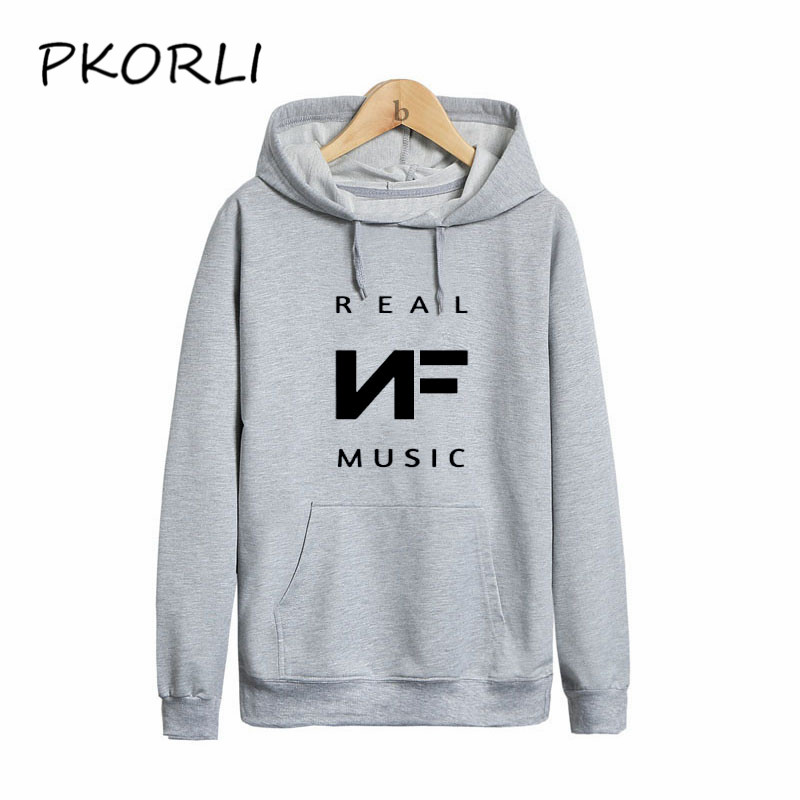 Pkorli Moleton Masculino 2018 Slim NF Hoodies Men Sweatshirt Long Sleeve Pullover Hooded Men'S Letters Printed Rapper Hoody