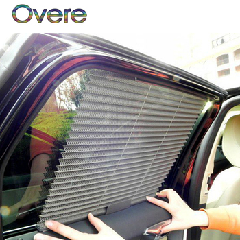 Overe 1PC Car pleated curtains Automatic folding sun shade For BMW E60 E36 E46 E90 E39 E30 F30 F10 F20 X5 E53 E70 E87 E34 E92 M image