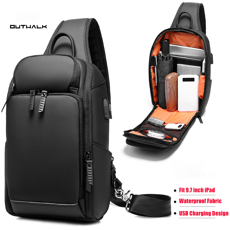 Business Anti-theft Man Shoulder Bag Chest Pack Large Capacity Waterproof Sling Crossbody Bags For Men Short Trip Messenger Bag