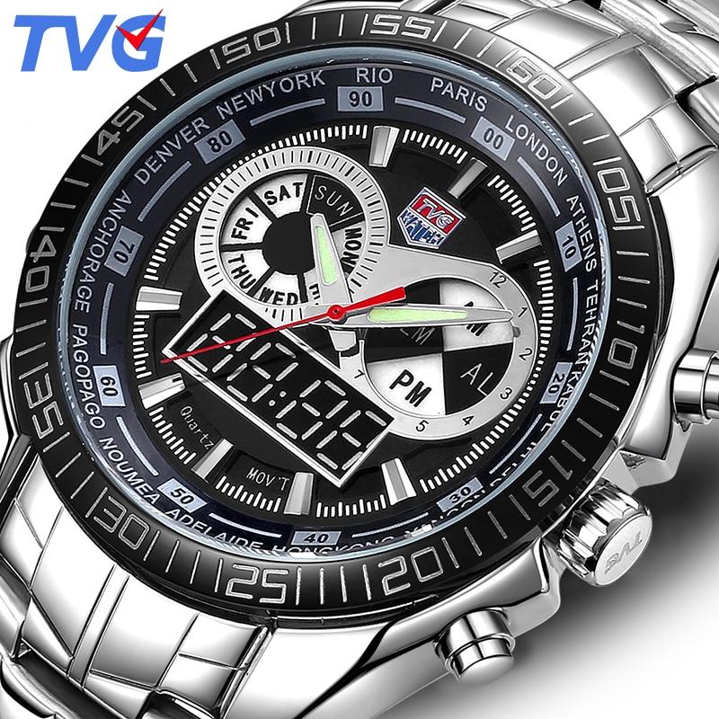 74f0e7a8a2a Relógio Digital de TVG Marca Dos Homens Do Esporte À Prova D  Água Relógio  de