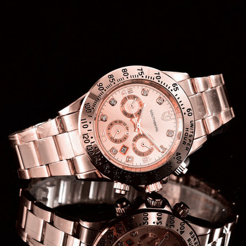Rose Gold Casual ladies Business Sports Military Stainless Steel Watch