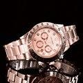 2017 SOUTHBERG GMT Luxury Brand GEWINNER Rose gold Uhr Männer Casual Männlichen Uhren Business Sports Military Edelstahl Uhr