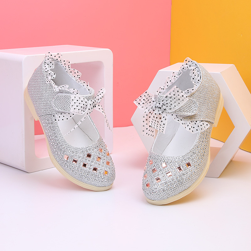 New Autumn Toddler Kids Little Flower Girl Rhinestone Christmas Princess  Shoes For Baby Girls Dance Wedding And Party Shoes|Leather Shoes| |  - title=