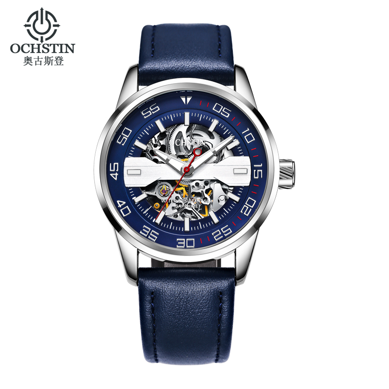 OCHSTIN Automatic Mechanical Watch Mens Watches Top Brand Luxury Men Leather Business Waterproof Sport Watches Relogio Masculino beats beats solo2 wireless headphones желтый с черным