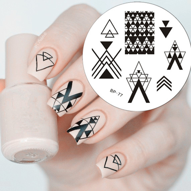 Various shapes Nail Art Stamping Template Image Plate BORN PRETTY ...