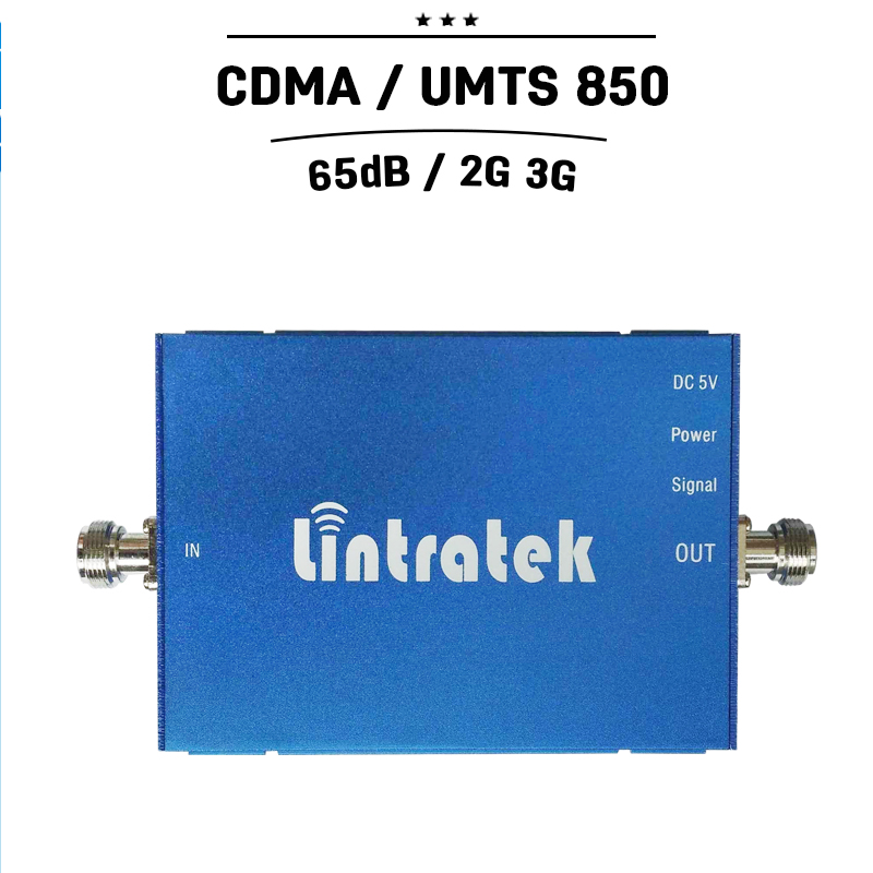 1000sqm Coverage gsm 850 Cell Phone Amplifier CDMA 3G UMTS 850 Signal Booster 65dB Gain Cellular
