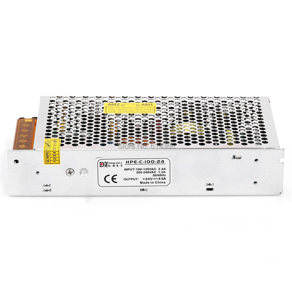 1PCS 100W 24V 4.5A Switching power supply for industrial control LED drive AC to DC power suply 24V 100w power supply 100-240V switching power supply 5v ccfl inverter instead of cxa m10a l 5 7 inch industrial screen high pressure lm 05100 drive