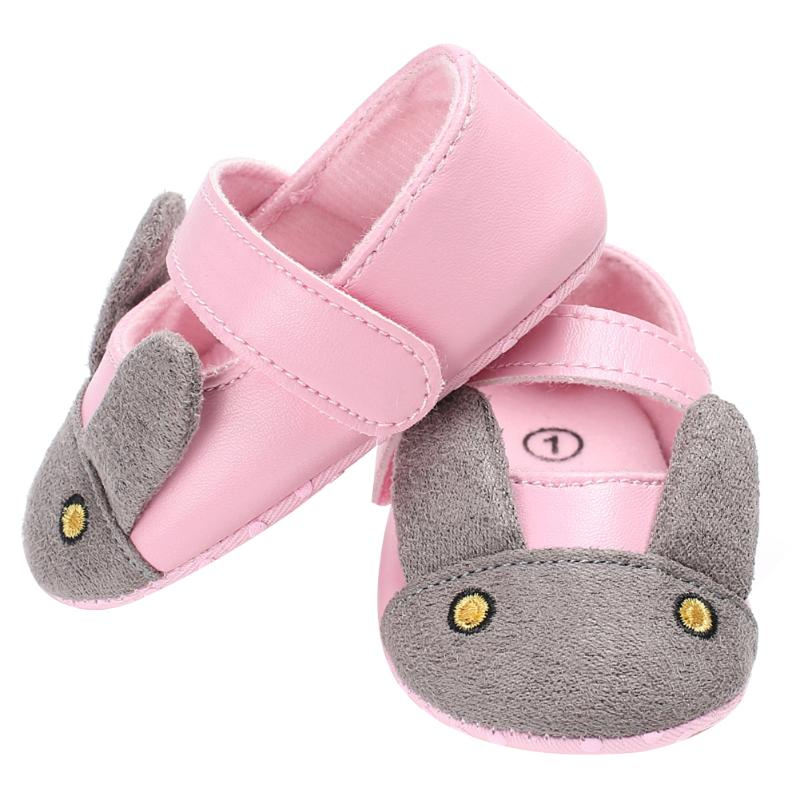 Cute Cartoon Rabbit Baby Girls Princess Shoes First Walkers Lovely Animal Soft Sole Newborn Baby Girls Moccasin Shoes Prewalkers