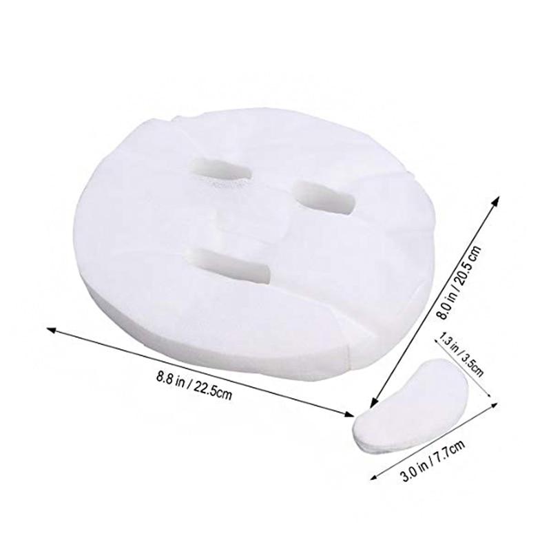 100pcs Cotton Facial Face Mask Sheet Paper DIY Soft Breathable Non-toxic Skin Care @ME88100pcs Cotton Facial Face Mask Sheet Paper DIY Soft Breathable Non-toxic Skin Care @ME88