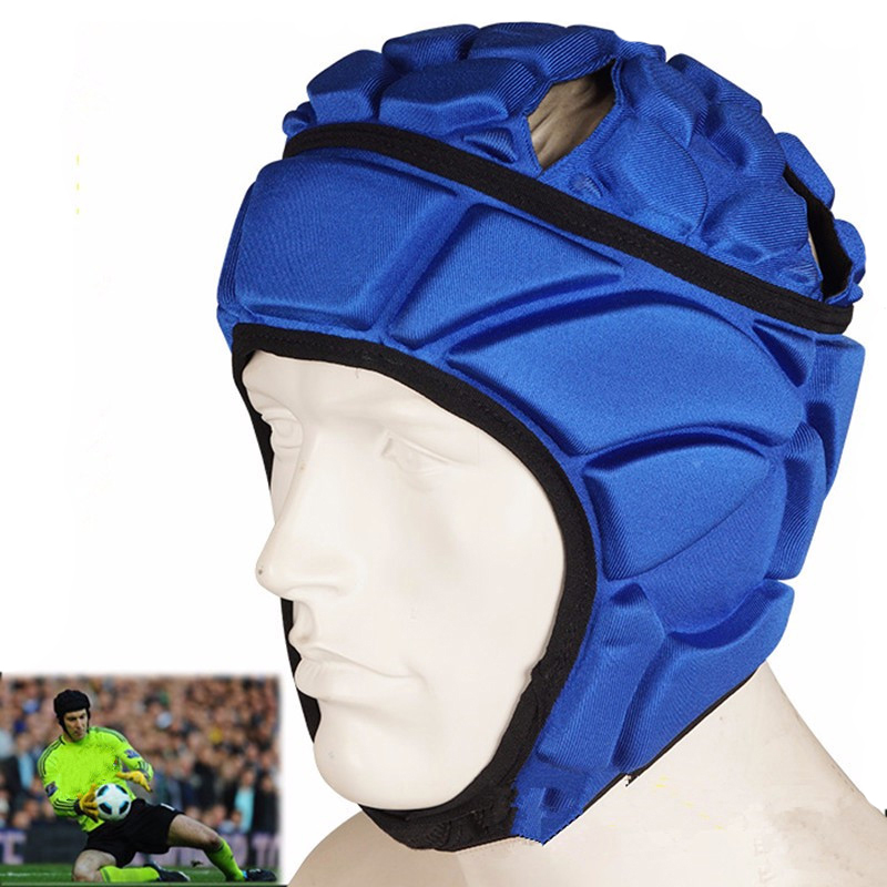 2017 New Mens Pressional Football Soccer Goalkeeper Helmet Sports Rugby Scrum Cap Headguard Goalie Roller Hat Head Protector