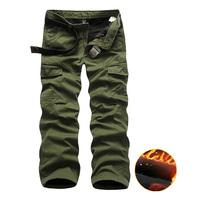 Fashion Winter Pants Men Slim Fit Plus Thick Velvet Solid Men Trousers Casual Pants High Quarlity