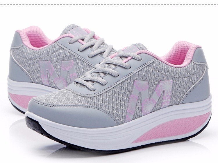 Slimming Shake shoes Women Fashion Breathable Mesh Casual Shoes Spring Summer Lace Up Women Swing Shoes Platform Trainers YD52 (18)