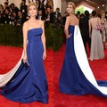 Met Gala Ivanka Trump Sexy Red Carpet Celebrity Prom Dress Taffeta Backless Strapless Chapel Train Free Shipping Vestido