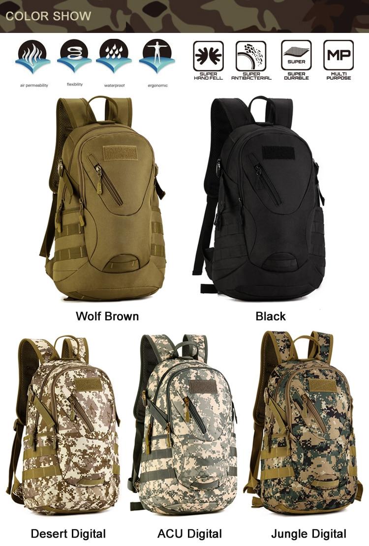 impermeável náilon mochila de viagem para caminhada caminhada camuflagem mochila