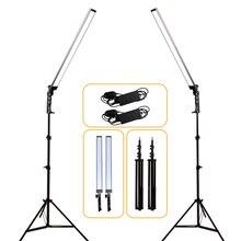 GSKAIWEN Профессиональные Затемнения фото фотостудия телефон видео светодио дный освещение лампы с штатив Стенд для Камера съемки
