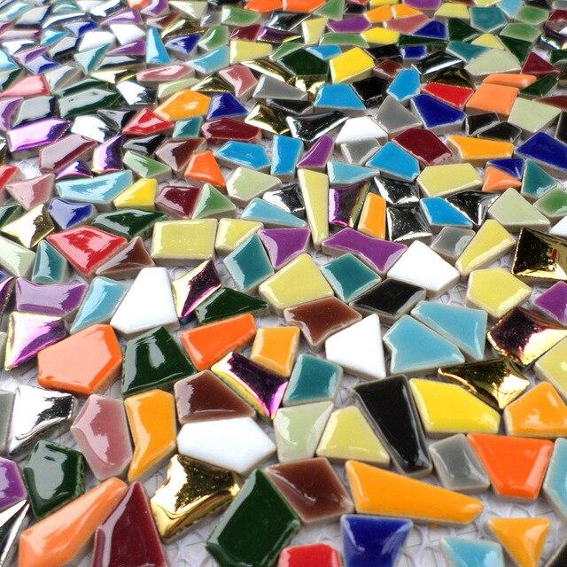 Regenbogen Bunte Ceramc Mosaik Unregelmassig Geformte Sieben Farbe