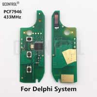 Placa de circuito de llave remota QCONTROL para auto para FIAT 500 dobllo Fiorino Grande Punto Evo Qubo PCF7946 Chip 433 MHz