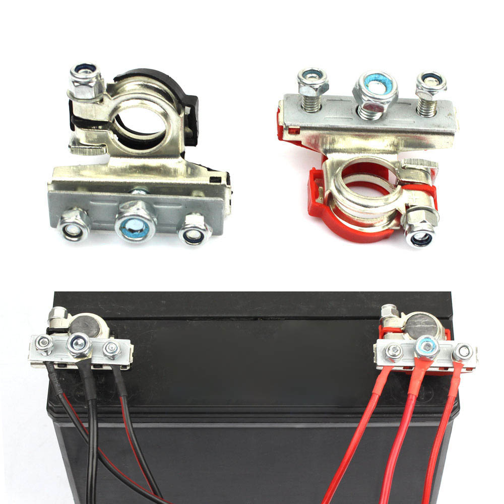 2Pcs 12V <font><b>Car</b></font> <font><b>Battery</b></font> Terminal <font><b>Connector</b></font> <font><b>Battery</b></font> Quick Release <font><b>Battery</b></font> Clamps image