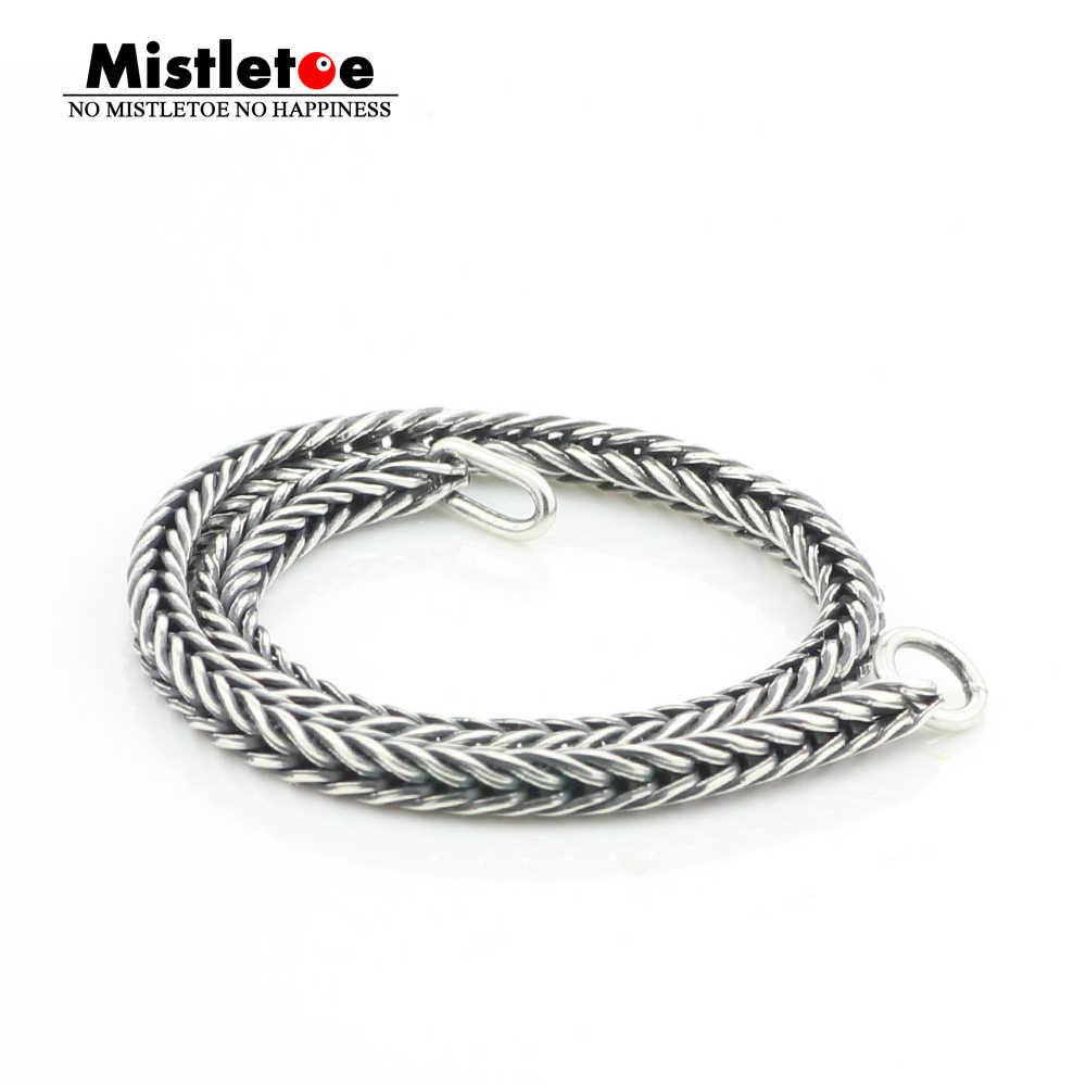Подлинный Браслет из стерлингового серебра 925 пробы, женский браслет с хвостом или цепочкой, ювелирные украшения в виде троллей