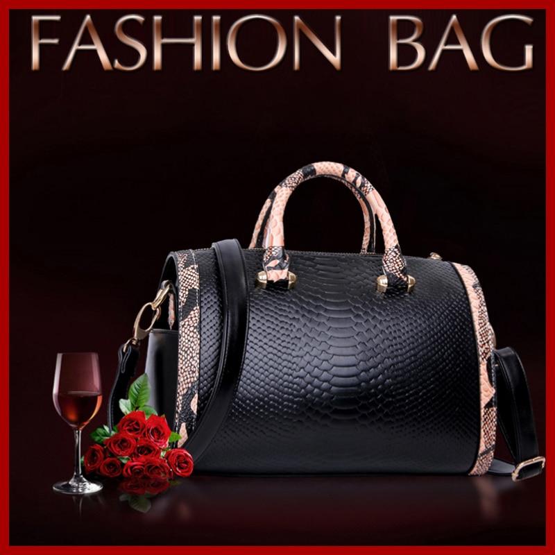 ФОТО 2015 Serpentine Crossbody Soft Skin Women Handbags Huge Capacity High-grade Leather Fashion Women Messenger Bags Bolsas 4 Colors